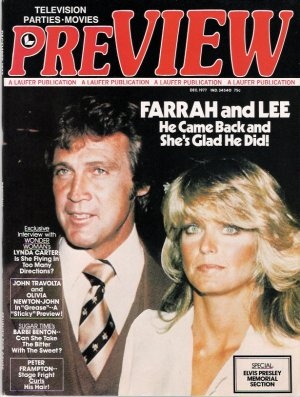 Farrah Fawcett-Lee Majors December 1977 Preview Magazine Cover