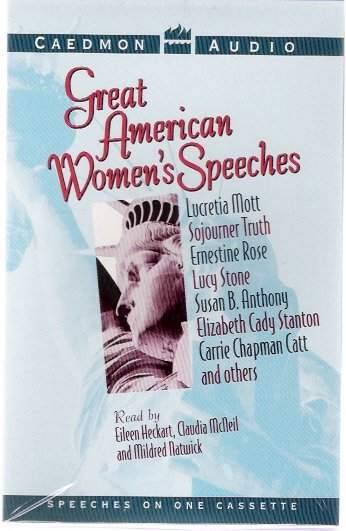 Great American Women's Speeches Sojourner Truth Susan B. Anthony Audio Cassette New