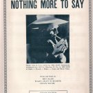 Big Slim Nothing More To Say 1946 Country/Western Sheet Music