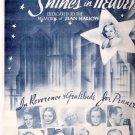 Rare 1938 Jean Harlow A New Star Shines in Heaven Sheet Music
