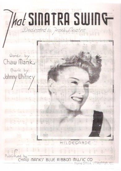 Frank Sinatra That Sinatra Swing 1944 Vintage Sheet Music & Professional Sheet