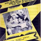 Roy Rogers/Dale Evans 1945 When I Dream About the Wabash Movie Sheet Music