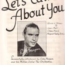 Let's Talk About You Eddy Morgan 1943 Big Band Sheet Music