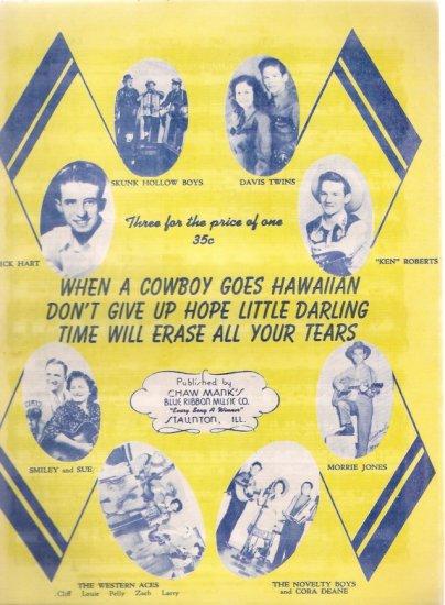 When a Cowboy Goes Hawaiian Country/Western Sheet Music