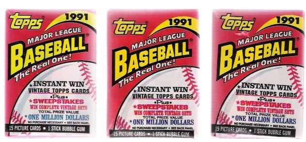 1991 Topps Baseball Cards Unopened Packs