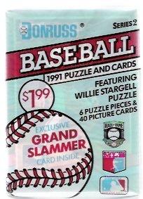 1991 Donruss Series 2 Baseball Cards Unopened Pack