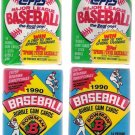 1990 Topps and Bowman Baseball Cards Unopened Packs