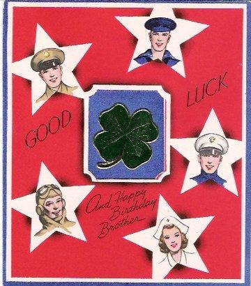World War II Army Navy Marines Air Force Medical Corps Greeting Card