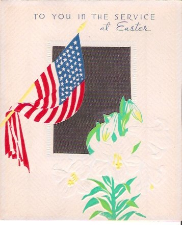 World War II American Flag Easter Greeting Card