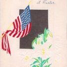 World War II American Flag Easter Greeting Card