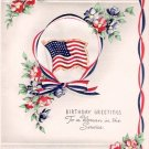 World War II Woman in Service Birthday Greeting Card
