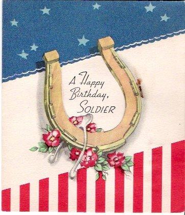 World War II Happy Birthday Soldier Greeting Card
