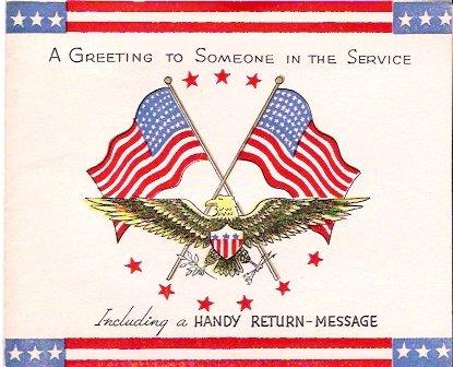 World War II Service Greeting Return Message Card