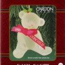 Carlton Cards Godchild 1998 Bear with Ribbons #44 Ornament