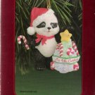 American Greetings Child's Fourth Christmas 1998 Panda Bear Ornament Mint in Box
