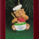 American Greetings Child's Third Christmas 1998 Bear as Chef Ornament Mint in Box