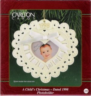 Carlton Cards Child's Christmas 1998 #29 Ornament Mint in Box