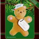 American Greetings 2002 Baby's First Christmas Navy Bear Ornament