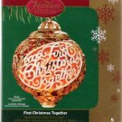 Carlton Cards First Christmas Together #5 Lighted Globe Ornament 2006 Mint in Box