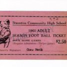 Staunton Illinois Community High School 1961 Football Bullldogs Season Pass & Schedule