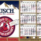 St. Louis Cardinals 100th Anniversary 1892-1992 Magnetic Baseball Schedule
