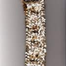 Vintage Original 1950s Women's Cloth Cinch Belt with Gold Color Sparkle Design
