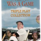 When It Was a Game Triple Play Collection Baseball VHS Collection