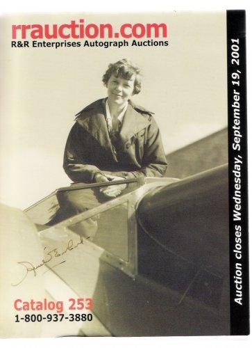 R&R Enterprises Autograph Auction Amelia Earhart Sep 2001 Catalog 253
