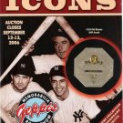 Geppi's Icons Sports Memorabilia Phil Rizzuto New York Yankees Fall 2006 Auction Catalog