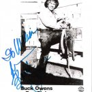 Buck Owens Autographed Fan Club Photo Vintage Country Music