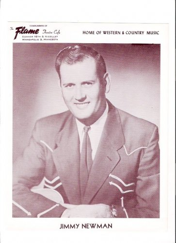 Original Jimmy Newman 1960s Flame Theatre Minneapolis Country Music Photo
