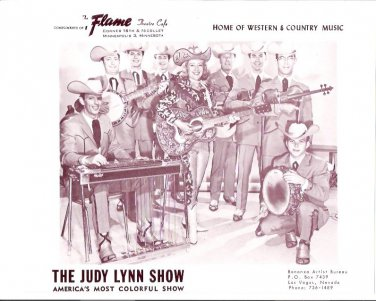 Original Judy Lynn Show 1960s Flame Theatre Minneapolis Country Music Photo