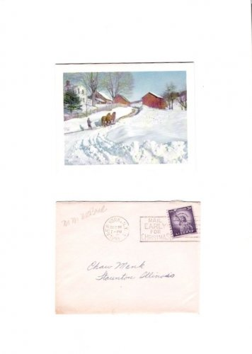 Mary Margaret McBride Radio Host Writer 1955 Autographed Christmas Card