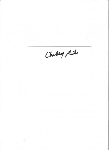 Charley Pride Autographed 2005 White Index Card Vintage Country Music