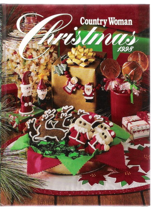 Country Woman Christmas 1998 Hardcover Cooking Crafts Recipe Book New
