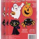 Vintage DesignWare Halloween Print Decorations Lot of 3 New Unopened
