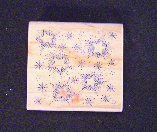 Starry Night Rubber Stampede A914E Wood Mounted Rubber Stamp New