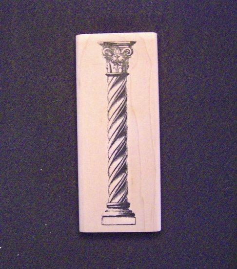 Illuminata Column Wood Mounted Rubber Stamp Inkadinkado
