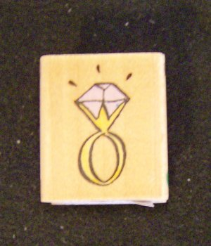 Diamond Ring Engagement Ring Wood Mounted Rubber Stamp All Night Media