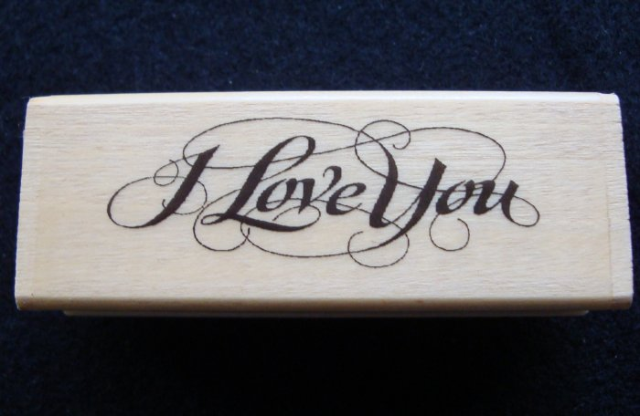 PSX SK609b  I Love You  Rubber Stamp New 1994