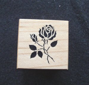 PSX B007 Rose Rubber Stamp New 1989
