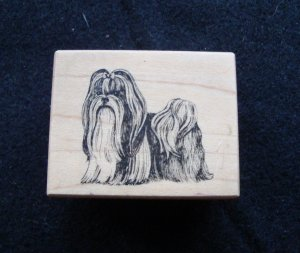 PSX D-1283 Shi-Tzu Dog Wood Mounted Rubber Stamp Gently Used