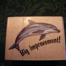 Big Improvement Dolphin Rubber Stamp Rubber Stampede