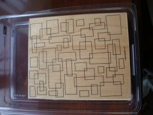 Geometric Stampin' Up! Retired Stamp NEW
