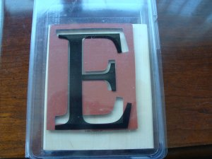 Monogram E Stampin' Up! Retired Stamp Used