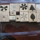 Shapes & Shadows Two-Step Stampin' Stampin' Up! Retired Stamp Set NEW