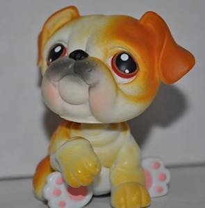 Bulldog #46 Littlest Pet Shop (Retired) Toy LPS Collectible Figure Loose OOP