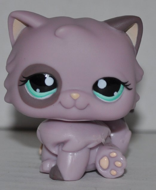 Kitten  cat Persian #1027 Littlest Pet Shop Retired ToyLPS Collectible Single Figure Loose OOP