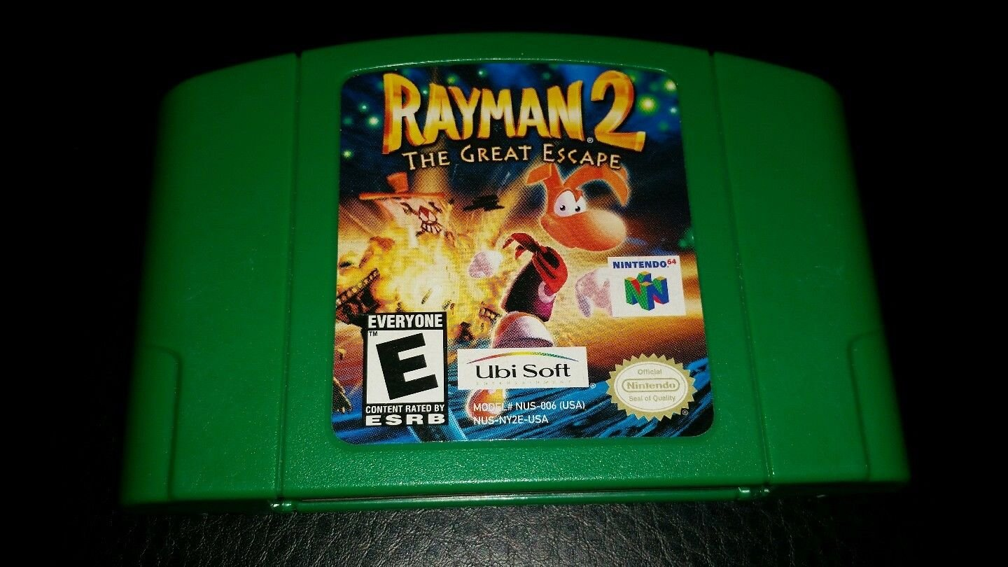 Nintendo 64 N64 Rayman 2: The Great Escape Video Game Cartridge Only