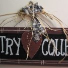 "Wooden ""Country Collector"" Sign"